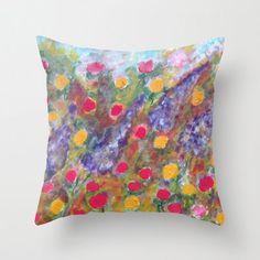 Floral Pillow CoverFine Art Pillow CoverFloral by RakheeKrishna
