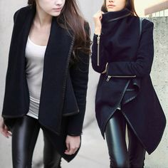 S/M/L/XL/XXL Fashion Womens Slim WOOL Warm Long Coat Jacket Trench Windbreaker Parka Outwear