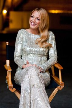 Blake Lively in Head-to-Toe Silver
