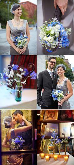 FiftyFlowers.com - Real DIY Wedding - New York Weddings - Photos By: Patricia Kantzos Photography  http://blog.fiftyflowers.com/new-york-wedding-feature/