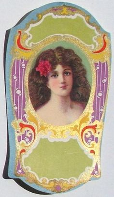 1910s Lady Blank Perfume Label ~ Use for label or journaling