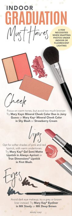 Let your confidence shine (even under harsh indoor lighting) with a camera-ready makeup look perfect for graduation day! | Mary Kay