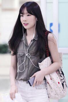140714 taeyeon's airport fashion