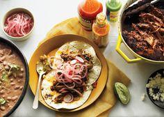 Chile-Braised Pork Shoulder Tacos - Bon Appétit