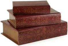 3 Decorative Storage Boxes by Gordon Companies, Inc. $142.50. Picture may wrongfully represent. Please read title and description thoroughly.. This product may be prohibited inbound shipment to your destination.. Brand Name: Gordon Companies, Inc Mfg#: 30690386. Please refer to SKU# ATR25768985 when you inquire.. Shipping Weight: 9.00 lbs. 3 decorative storage boxes/wooden book style/small: 9.5''H x 6.25''W x 2.25''D/medium: 12''H x 8.5''W x 3''D/large: 14.75''H x 10.5...
