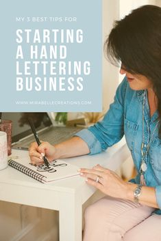 Girl Boss Series: How to Start a Hand Lettering Business - Mirabelle Creations Hand Lettering Quotes, Brush Lettering, Boss Series, Creative Director, Girl Boss, Inspirational Quotes, Hands, Learning, Business