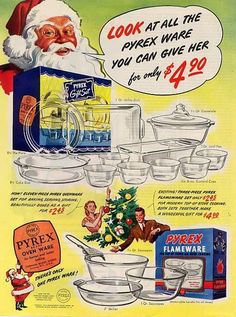 Vintage ad for Pyrex