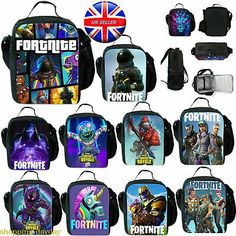 Fortnite Kids Insulated Lunch Bag Students Lunch Box School Food Picnic Box UK