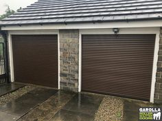 Double Brown Garage Doors Roller Shutter Doors for sale from Garolla come with amazing prices. To see our Roller Shutter Garage Doors prices you can visit our website by clicking the link below. Garage Organisation, Garage Storage, Brown Garage Door, Brown Doors, Garage Doors Prices, Roller Shutters, Shutter Doors, Garages, Modern Design