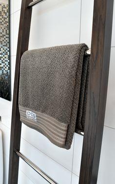 DCS Wooden Ladder, Heated towel rail. www.dcshort.com