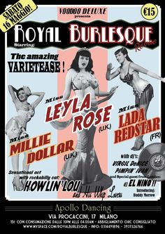 art work by Voodoo De Luxe © Vintage Web Design, Girl Pictures, Girl Pics, Non Plus Ultra, Burlesque Show, Glamour, Pulp Art, Modern Retro, Special Guest