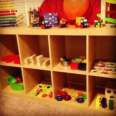 My #Montessori toddler self-learning setup at home. Most of the items were bought at the Dollar store and #IKEA.