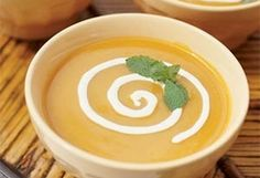 Recipez :: Cream of Coconut and Mango Soup with Min