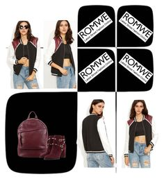 """""""Romwe Color Black Jacket"""" by lorrainekeenan ❤ liked on Polyvore featuring Want Les Essentiels de la Vie and Valentino"""