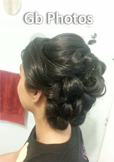 updo for weddings or parties done on shoulder length hair.