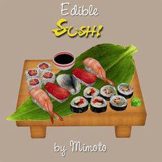 My Sims 3 Blog: Edible Sushi by Mimoto