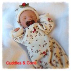 Ooak Soft Body Minature Baby, Prosculpt Alyssa By: Janie