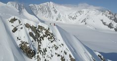 Sage and Dana on top of another AK beauty and first descent #thedreamfactory #ski #alaska
