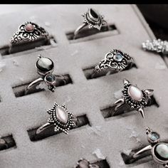 ♕ 15% OFF WIDOW MAKER JEWELS | Code- WIDOWXX | Expires 12PM GMT 11/1/17 ♕ shopdixi.com ♕ dixi // jewellery // jewelry // boho // bohemian // grunge // goth // dark // mystic // magic // witchy // sterling silver // rings // pink // black // pearl