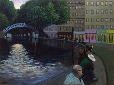 Ruben Monakhov. Twilight on the canal Saint-Martin. Oil on canvas, 45х60 cm…