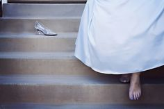 I'm totally taking a picture like this on my wedding day :) 'Cinderella's Glass Slipper by jocelynphotography, via Flickr'
