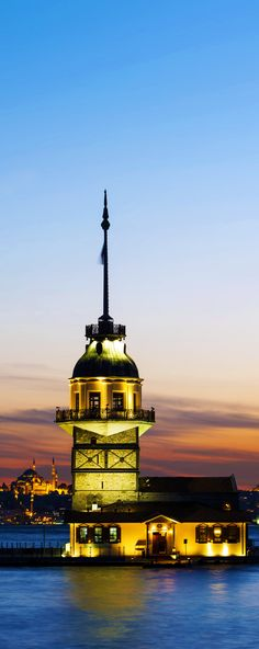 Kiz Kulesi, also known as Leander's Tower, is on a small islet at the southern entrance of the Bosphorus | Top 11 Reasons to Visit Istanbul