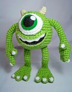 Mike Wasowski - Monsters Inc amigurumi doll by zulemax