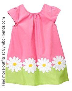 little girl's daisy dress