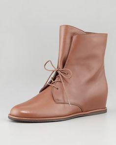 Stepmistress Hidden-Wedge Boot, Luggage by Stuart Weitzman at Neiman Marcus.