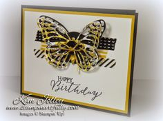 Stampin Artfully: Designer(ish) Butterfly - SU - Butterfly Basics - Washi Tape - Birthday