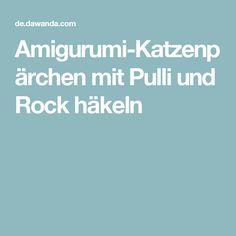 Amigurumi-Katzenpärchen mit Pulli und Rock häkeln