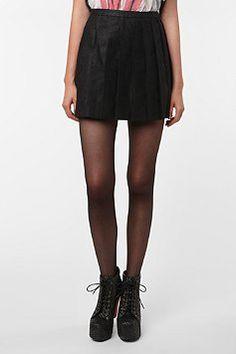 Silence & Noise Pleated Mini Skirt