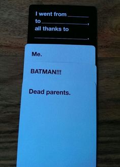 There is never going to be a more perfect set of cards played in Cards Against Humanity than these.