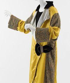 Paul Poret coat with crochet overlay