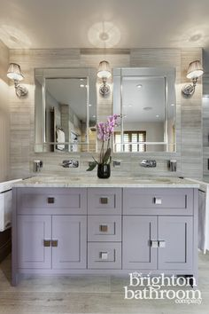 Quirky On Trend Family Bathroom With Bespoke Cabinet —Surrenden Custom Bathroom Design Company Design Ideas