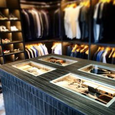Walk in wardrobe designed by Lucy Coulthard interior design
