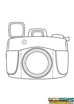 dibujo de camara de fotos para colorear - Buscar con Google