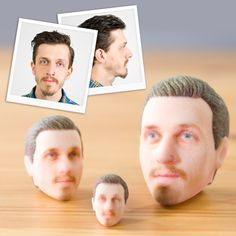 Personalized 3D Printed Heads available at Firebox.com http://3dprintmastermind.com/category/3d-print-design/