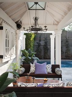 Outdoor Living | Buying poolside furniture is a great investment. Keep an eye on the kids as they swim, entertain and socialize at a bbq or just enjoy the weather with these great outdoor sofas. By adding bright or patterned pillows, you can easily change the mood or adjust for the season. You should enjoy your outdoor space all year-round.
