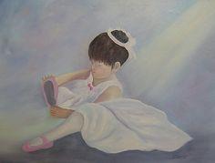 ballerina artwork | Little Ballerina Painting by Judy Browne - Little Ballerina Fine Art ...