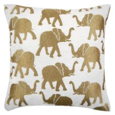 "Chobe Pillow 22"" from Z Gallerie...maybe an elephant :)"