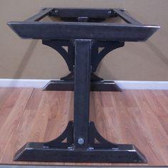 Industrial Steel Table Base Kitchen Island Bar Legs Massive Factory Style Iron…