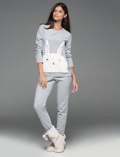 women'secret   Products   Long rabbit polar pyjama