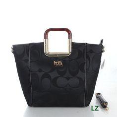 Coach Logo Monogram LZ517 Hobo Bag In Black
