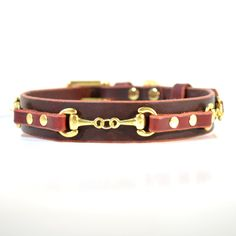 He'd be wearing this if I had a dog. Handmade Leather Dog Collar CAVALIER 1 Inch Width by CanisMolossus