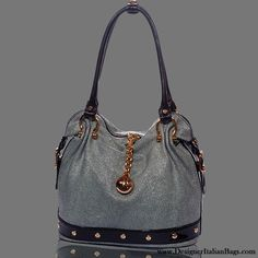 Marino Orlandi Italian Designer Grey Stingray Leather Slouchy Purse $600.00
