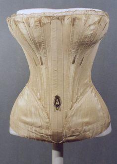 Corset Date: 1839–41 Culture: American or European Medium: silk Accession Number: C.I.38.23.10b–d