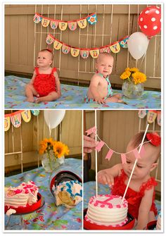 Twins' DIY Backyard Cake Smash | Rebecca Shaffer