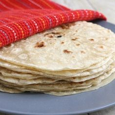 Homemade Flour Tortillas - You'll never want to go back to store-bought after trying freshly made tortillas!