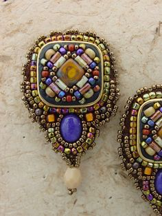 SALE Mosaic Earring KIT square with Dyed por HeidiKummliDesigns